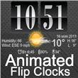 Live Wallpaper Flip Clock Tria